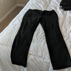 WHBM black ponte pants